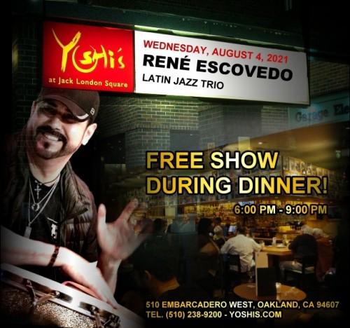 René Escovedo Latin Jazz Trio @ Yoshi's