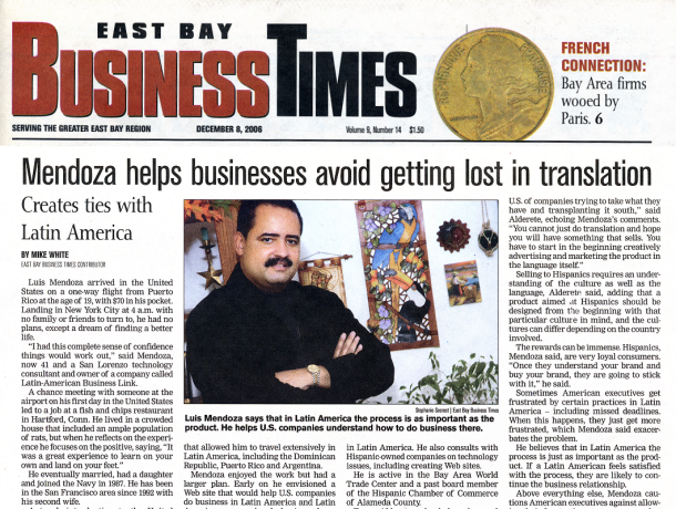 Luis Mendoza- East Bay Business Times